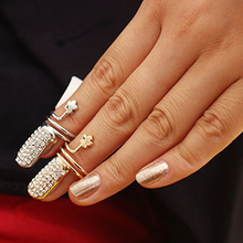 2014 hot Wholesale Small Plum Flowers Ring/Retro Ring Jewelry For Women Gold and silver nail ring A00089