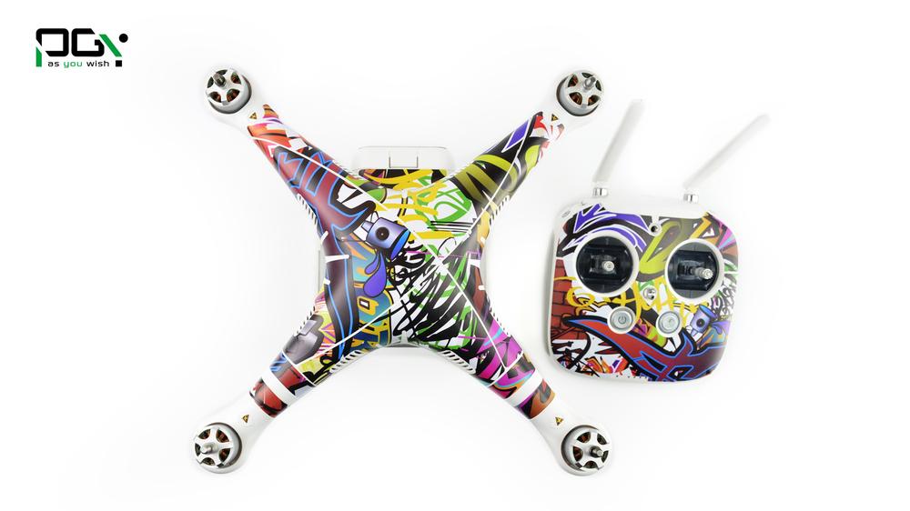 PGY PVC Skin For DJI Phantom 3 Waterproof 3M Sticker professional Drone parts C011