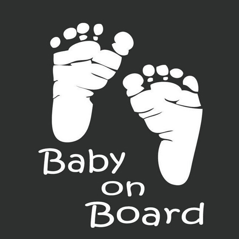 (50 pieces/lot ) Cute Baby Board foot Car Styling vinyl stickers decals car accessories - Laiyuan Trading Company Ltd store
