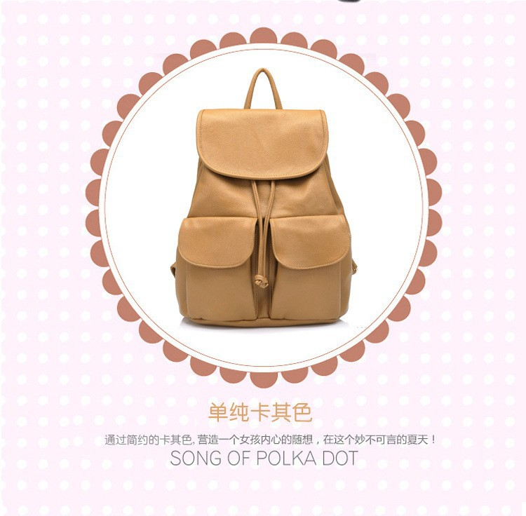 wholesale Women Leather Backpack Mochilas Femininas women travel bags student school Backpack Women Shoulder Bags 2015 new BP2 (5)