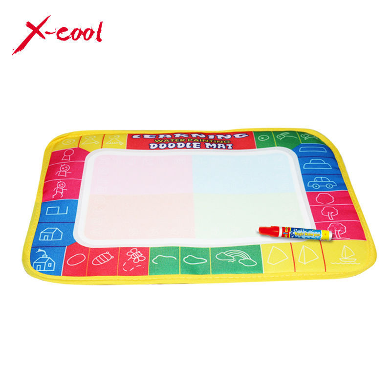 XC8866 29X19cm 4 color Mini Water Drawing Mat Aquadoodle Mat&1 Magic Pen/Water Drawing board/baby play mat Free shipping(China (Mainland))