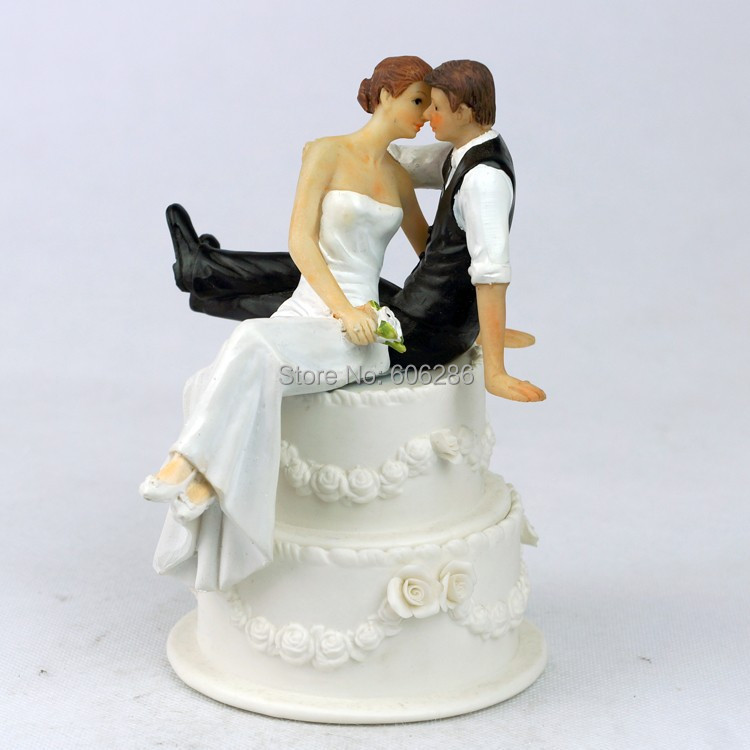 buy wholesale 45pcs lot resin couple bride and groom figurines for wedding cake. Black Bedroom Furniture Sets. Home Design Ideas