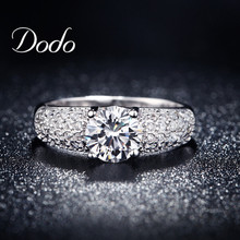 White Gold Filled Rings For Women Wedding Accessories Bijoux CZ diamond Jewelry ring vintage Engagement Bague anillos DR024