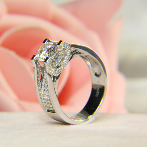 Aliexpress Buy Genuine 14k White Gold 1 Carat ct Forever Brilliant Mois