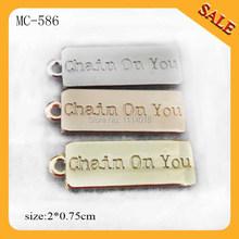 MC586 Wholesale handbag tag small custom metal jewelry tags for bracelet(China (Mainland))