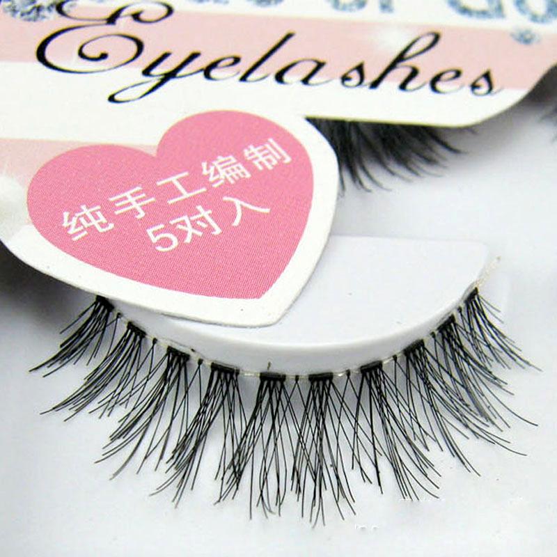 5Pair False Eyelashes Extension Tools Messy Cross Thick Natural Long A Set Of False Fake Eye Lashes Professional Makeup Tips(China (Mainland))