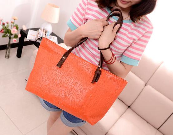 Hot!! PU Embossed Leather Women Shoulder Bag Lady Elegant Messenger Bag Korea Style Free Shipping(China (Mainland))