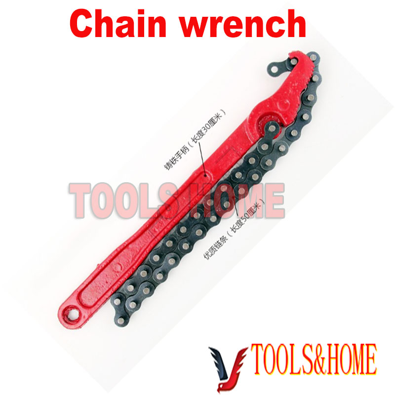 """2015 Rushed New Wrench Set Free Shipping!! Excellent Quality Tool Steel Round Oil Filter Remove 12"""" Chain Wrench Auto Repair(China (Mainland))"""