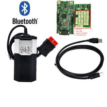2014R2 with Keygen ds150 with bluetooth for delphi ds150e obd obd2 obdii diagnostic scanner tool with nec relays green board CDP(China (Mainland))