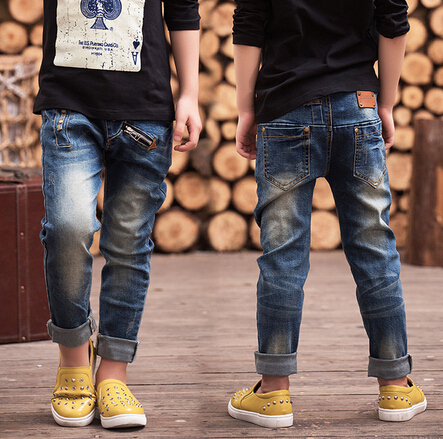 Children's clothing 2015 autumn trousers children baby pants Slim Personality Boys jeans Free shipping(China (Mainland))