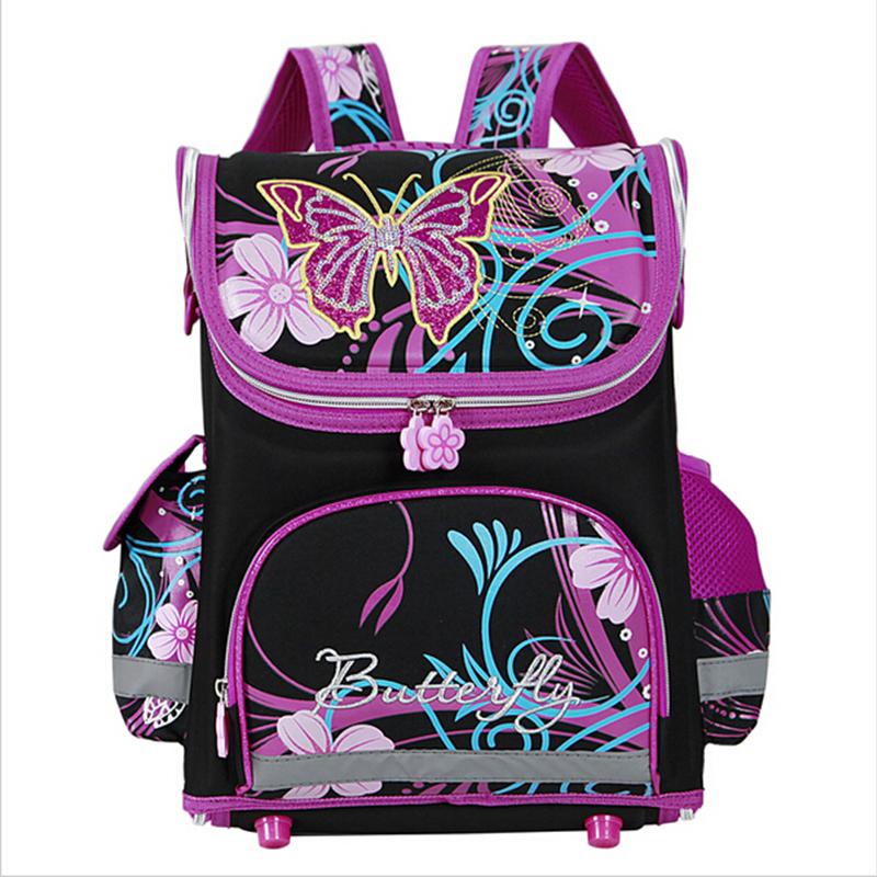 Гаджет  Butterfly Girls School Bags Children Backpack Winx Monster High Primary Bookbag Orthopedic Princess Schoolbags Mochila Infantil None Камера и Сумки