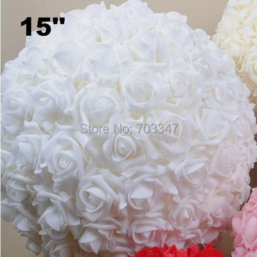 Cm foam kissing rose flower ball artificial