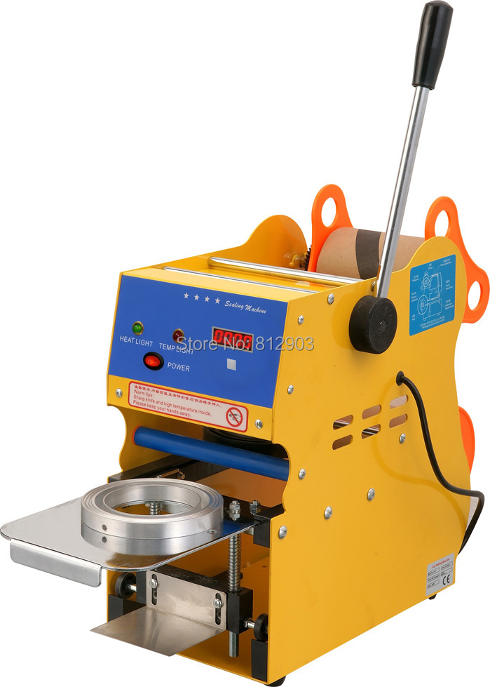 Free Shipping, F01B MANUAL Cup Counting Sealing Packing Machine, Cup Sealer Machine by Hand(China (Mainland))