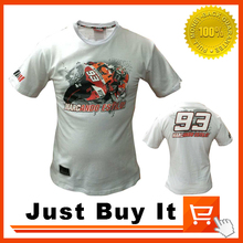 Black And White 2016 The New MOTO GP No.93 Marquez Racing Motorcycle clothing 100% cotton Casual Shirt sports Short-sleeved