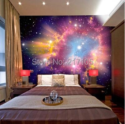Custom 3d stereoscopic cosmic nebula wallpaper mural room for Universe wallpaper for walls