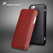 Senior leather phone shell business models can turn left and right for iPhone6/6s 7 plus(China (Mainland))