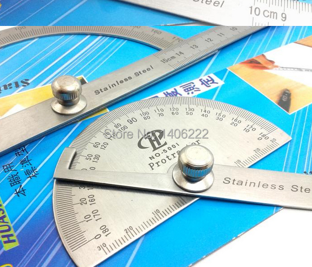 New S.S Protractor Round Head Angle Square Craftsman Rule Ruler Machinist 90 x 150mm Stainless Steel General Tool Free Shipping<br><br>Aliexpress