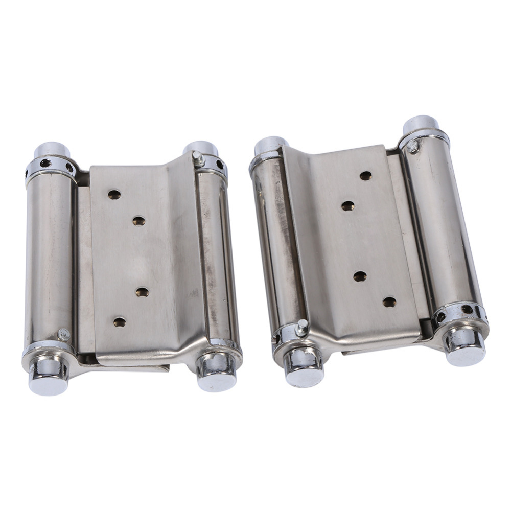 "2pcs 3"" Stainless Steel Double Action Spring Hinge With Screws FOR Cafe Door Swing Freegate /Bar Counter Doors/Events door(China (Mainland))"