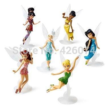 New Fairies Tinker Bell Periwinkle Iridessa Rosetta Silvermist Vidia Figure Dolls Set For Girls Kids Toys Children Gifts(China (Mainland))