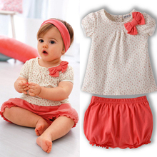 Kids Baby Girls Cherry Clothes Set Dots T shirt Tops Pants 2Pcs Outfits Bow Cotton Clothes