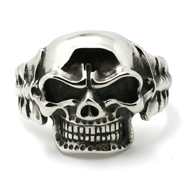 Mens Fashion Jewelry Huge&Heavy Sliver 316L Stainless Steel Skull Bangles Boys Biker Bracelets Chain - Rany Store store