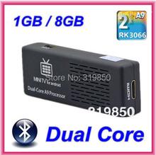 MK808B Cortex A9 Dual-Core Anroid 4.4.2 Bluetooth Mini PC Android TV box RK3066 1.6 GHz RAM 1GB ROM 8GB HDMI 1080P Wifi(China (Mainland))