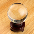 Free shipping ultra clear no air bubble 80mm crystal glass ball with stand magic props ball
