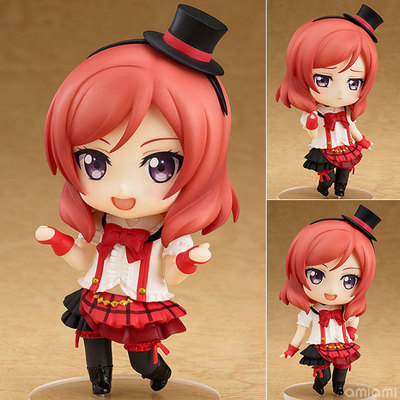Anime Love Live Maki Nishikino With Hat Nendoroid 516 Smilling Embarrassed Expression PVC Action Figure Model Kids Toy Doll(China (Mainland))