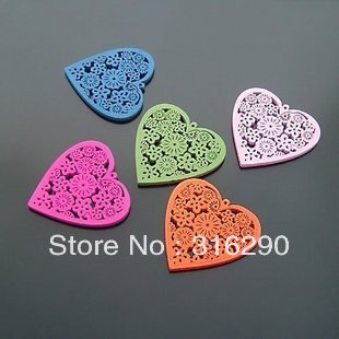 Free shipping 100pcs/lot 20mm Wooden heart Beads Jewerly / Wooden Jewelry Accessory loose beads