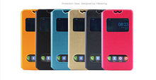 New 360 Rotating Stand Flip Double View Window Leather Cover For Elephone P8000 Case Phone Cases Accessories 6 Colors