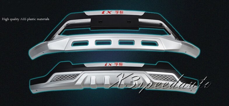 High Quality Brand New Front + Rear Bumper Protector Guard Trim For Hyundai IX25 2014 2015<br><br>Aliexpress