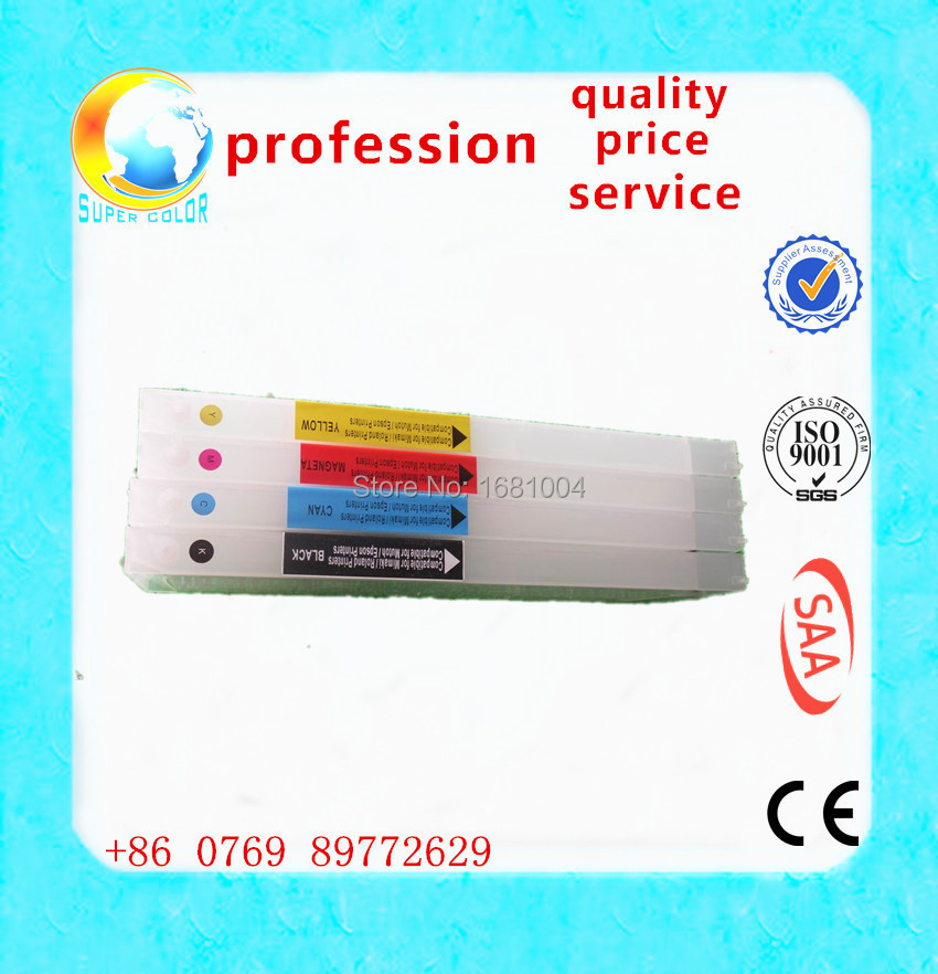 6 COLORS for Mimaki JV5 JV33 JV34 CJV440ML HS1 ECOSOLVENT ink used refillable ink cartridge with permanent chip(China (Mainland))