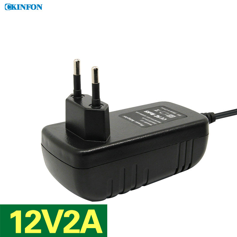 Free DHL Fedex 50PCS BS-122EU Plug 12V2A Power Adapter Hard Disk Video Recorder Router Switch Power Adapter(China (Mainland))