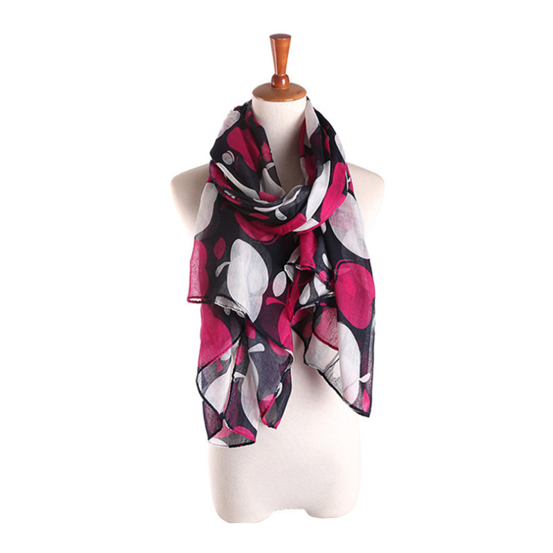 2016 Spring Autumn Fruit Print Women Scarves Voile Scarf with Silk Feeling Z-2319()