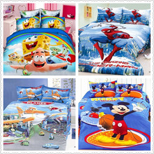 Kids twin cartoon Christmas 3D bedding sets 3Pcs include  duvet/quilt/comforter cover flat sheet pillow case boys bed cover set(China (Mainland))