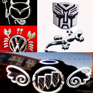 Little angel stereo metal car sticker volkswagen gekkonidae crab stainless steel demon car stickers personality car decoration
