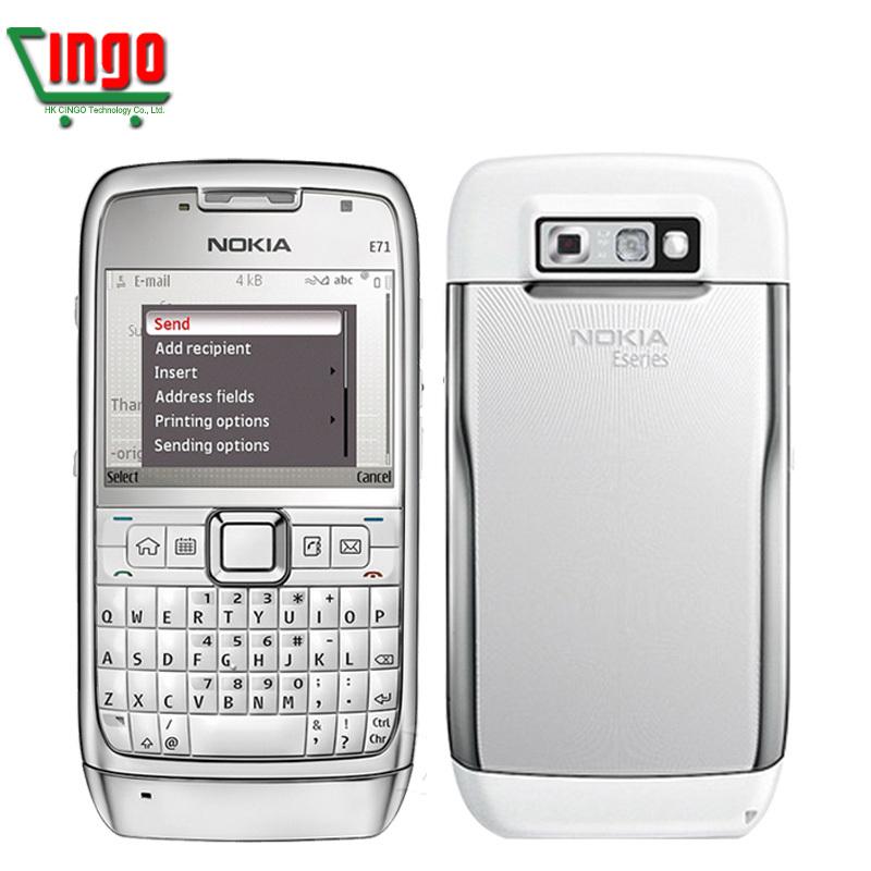 100% Original Nokia E71 Mobile Phone 3G Wifi GPS 5MP Refurbished Unlocked Arabic Russian Keyboard Free shipping(China (Mainland))