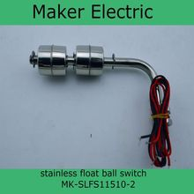 220 v MK-SLFS11510-2 alta calidad nuevo tono de la plata cableado de nivel de líquido Sensor Dual Ball acero inoxidable interruptor de flotador envío gratis