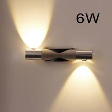 6 W pared LED de aluminio moderna lámpara de luz espejo espejo 85 - 265 V decoración del hogar para lectura del dormitorio baño baño hotel lámpara lámpara de iluminación(China (Mainland))