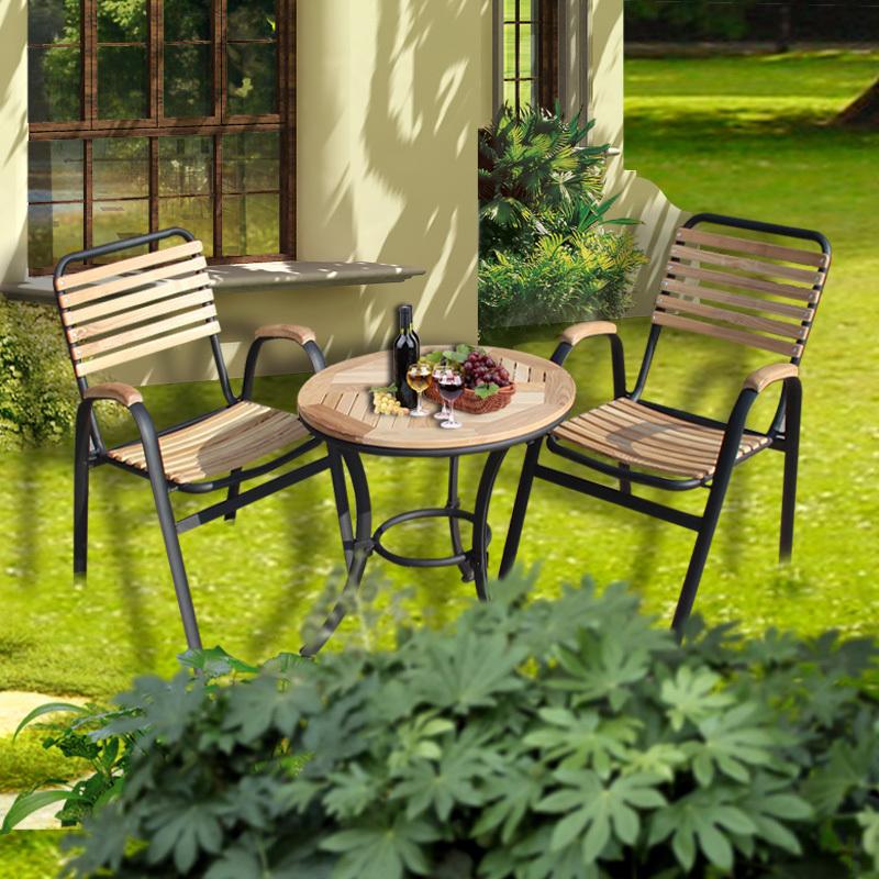 Mesa mesas de madera muebles de madera y jard n for Mobiliario de patio