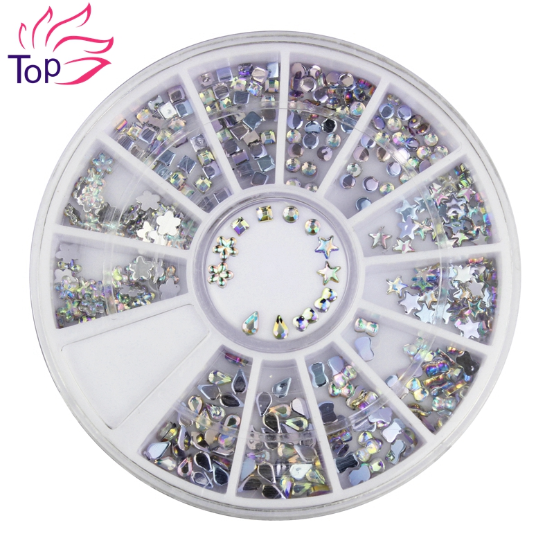 6 Models Shiny Acrylic Nail Art Stickers Tips Glitter Fashion Nail Tools DIY Decoration Stamping ZP025<br><br>Aliexpress