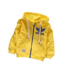 2015 autumn brand 0-3 year children's sweatshirts fashion cotton High quality long sleeve sports Zipper baby boy / girl coat