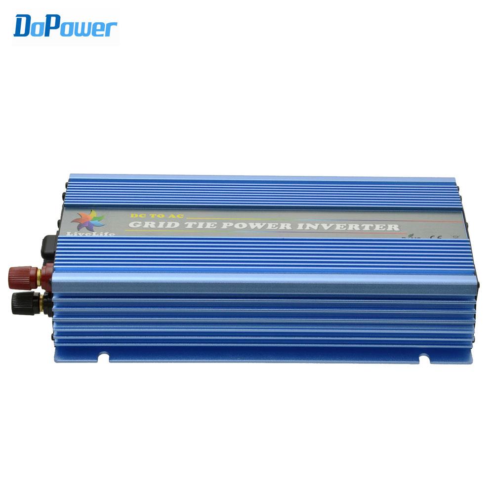 grid tie inverter 1000W 20V-45VDC, AC90V-140V or 190V-260V, workable for 600W-1200W, 24V, 30V, 36V solar panel or wind power(Hong Kong)