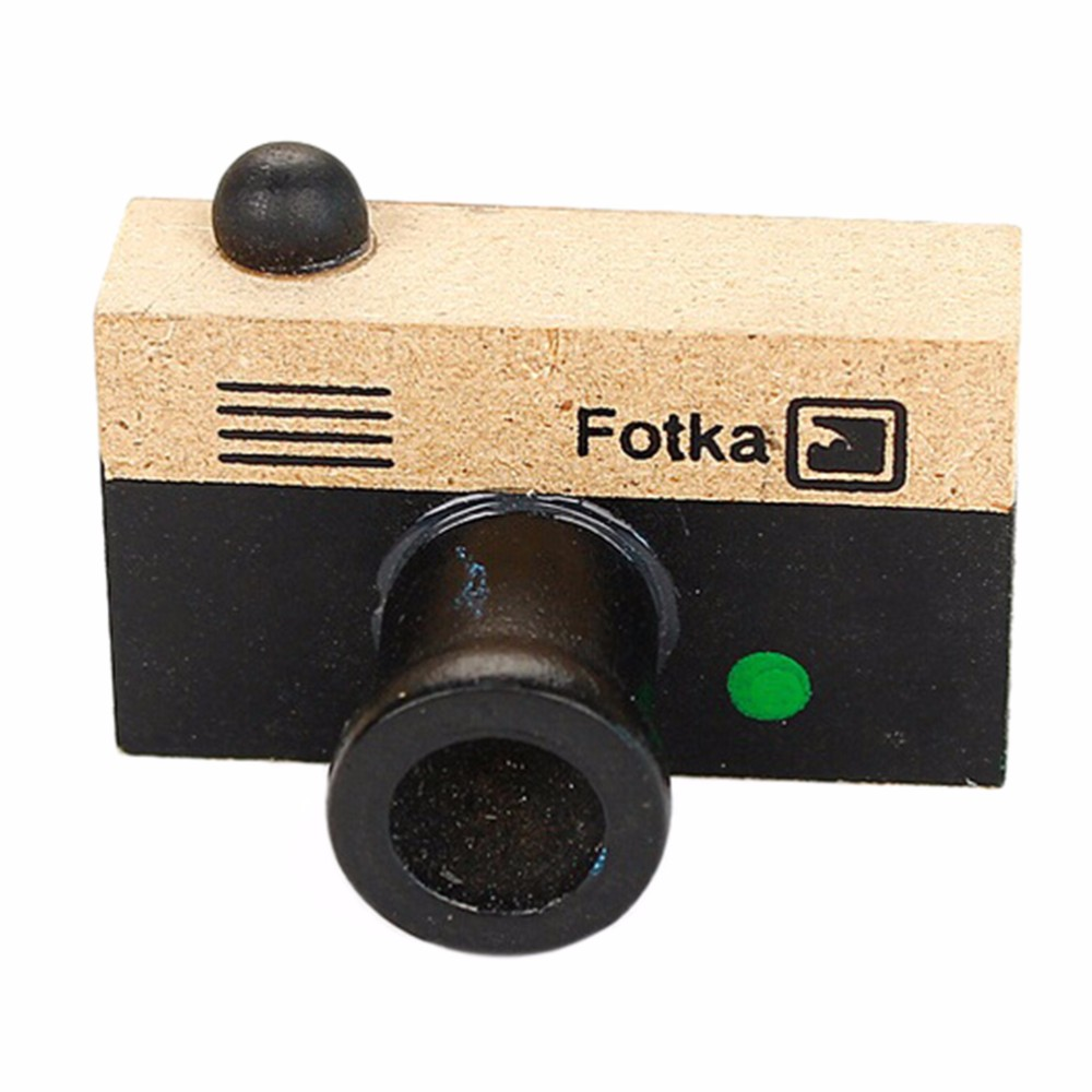 Firecolor Tiny Camera Wooden Rubber Stamp Craft Vintage Style Korea Novelty Gift,Green