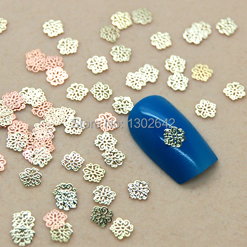 K60 200pcs/lot DIY Fashion Small Flower Metal Jewelry Nail Art Tiny Slice Metal Accessories & Cell Phone Sticker Decoration(China (Mainland))