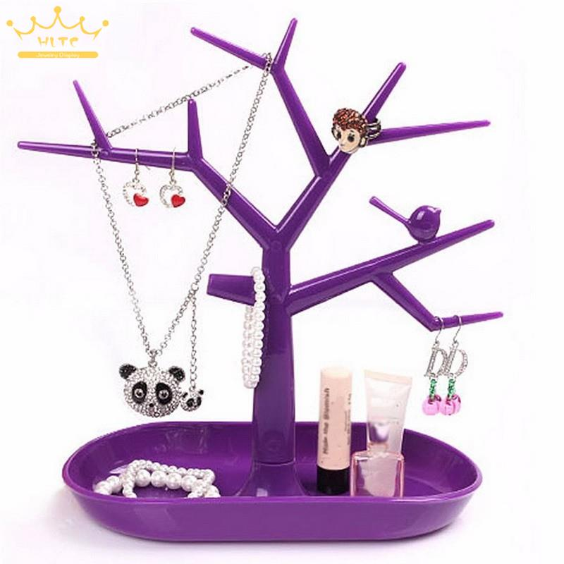 Jewelry Necklace Ring Earring Tree Stand Display Organizer Holder Show Rack Jewelry Packaging & Display Accessories