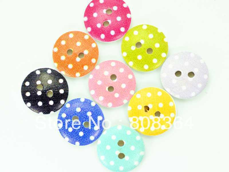 Sale Sewing Accessories Free Shipping 100 Pcs Random Mixed Wood Sewing Buttons Scrapbooking Pattern Round 15mm(w02543 X 1)(China (Mainland))