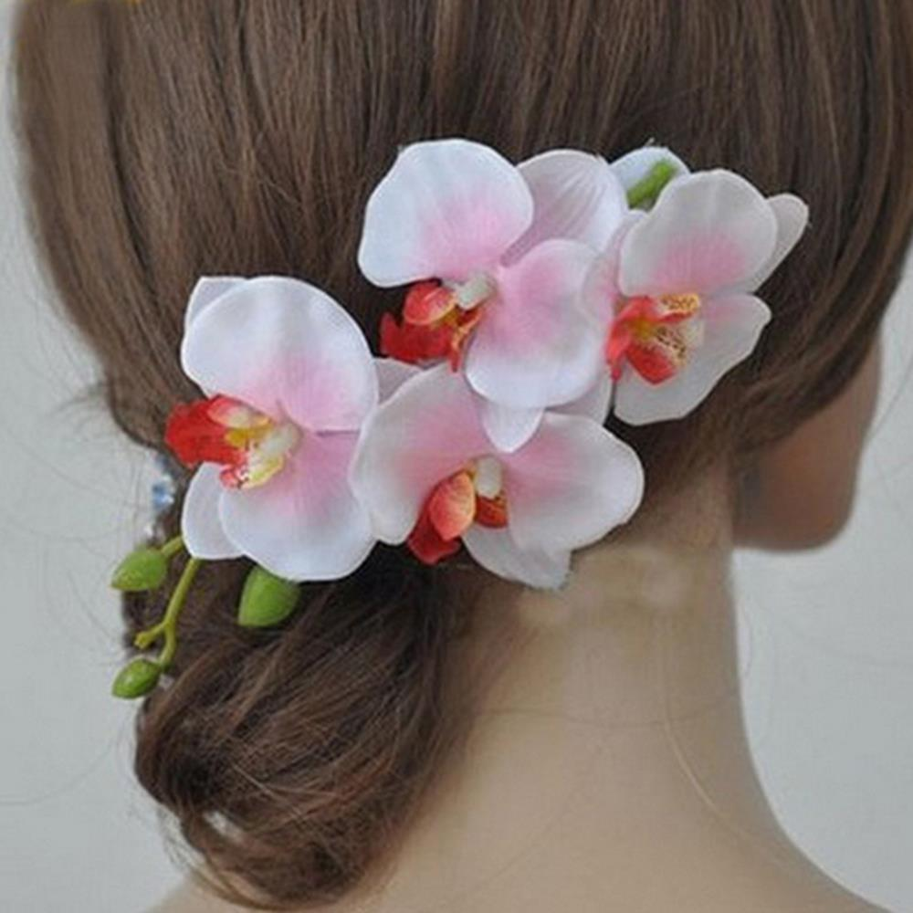 Colorful Bridal Wedding Orchid Flower Hair Clip Barrette Accessories Hairpin Hot