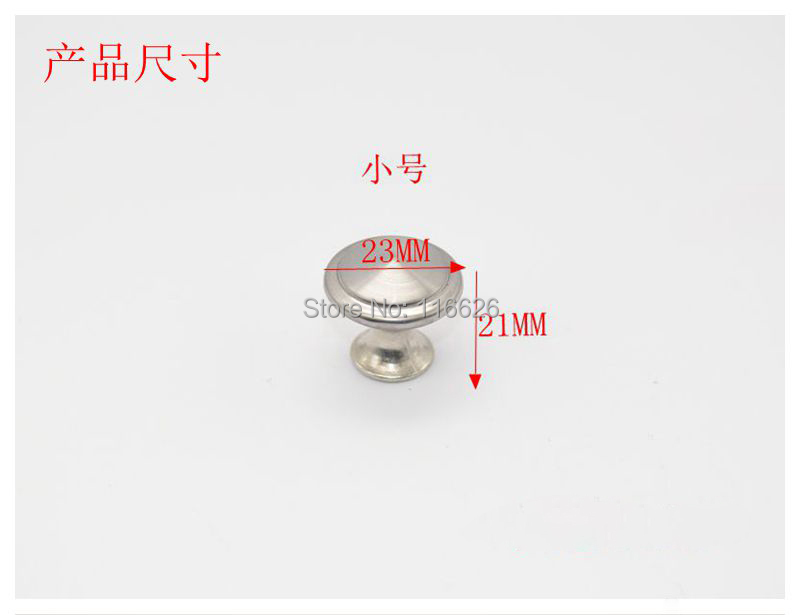 20PCS/Lot brushed stainless steel furniture/cabinet/wooden box drawer knob with screws Dia23mm with screws(China (Mainland))