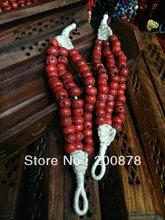 BB-420  Tibetan antiqued red coral Beads Bracelet,2012 vintage ethnic fashion,ethnic handmade jewelry(China (Mainland))